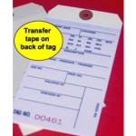 Inventory Tags with Transfer Tape