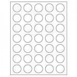 Circle Inkjet/Laser Labels