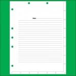 Index Divider Sheets