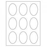 Oval Inkjet/Laser Labels