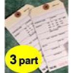 3 Part Inventory Tag with Carbon
