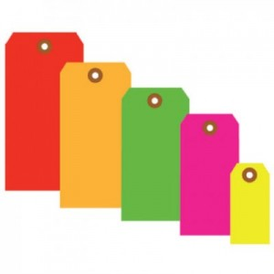 Fluorescent Colored Tags