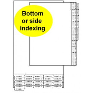 Legal Index Divider Tabs: EXHIBIT A-Z