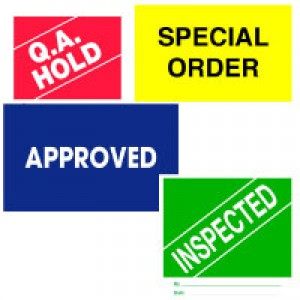 Inventory Process/Quality Control Labels