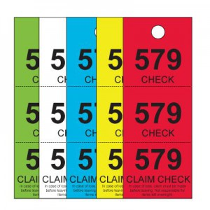 Coat Check Tags, Colors Stock