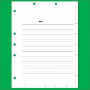 Index Divider Sheets