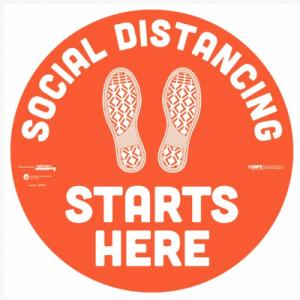 Social Distancing Floor & Wall Decals