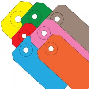 Colored Blank Shipping Tags