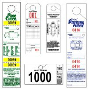 Parking-Valet Tags