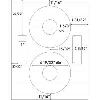 "Up to 4 19/32"" Diameter"