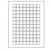 ".75"" x .75"" Square Inkjet/Laser Labels (RC)"