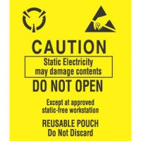 """""""CAUTION Static Electricity May Damage"""" Labels"""