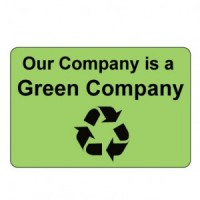 """""""Our Company is a Green Company"""" Label"""