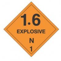 """""""EXPLOSIVE 1.6 N"""" - D.O.T. Label"""
