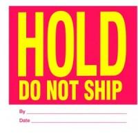 """HOLD DO NOT SHIP"""