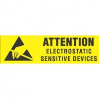 """ATTENTION ELECTROSTATIC"" Label"