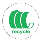 """""""Green Recycle Arrows"""" Label"""