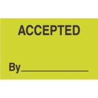 """""""ACCEPTED BY"""""""