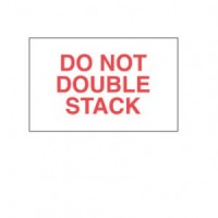 """""""Do Not Double Stack"""" Label"""