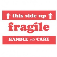 """This Side Up Fragile Handle with Care"" Label"