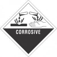 """""""CORROSIVE"""" - D.O.T. Label"""