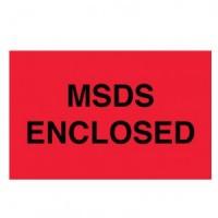 """""""MSDS ENCLOSED"""" Label"""