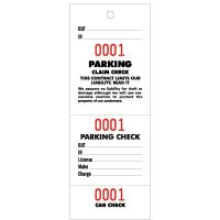 """Parking & Claim Check Tags, White, 6 3/4"""" x 2 1/2"""""""