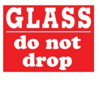 """""""GLASS do not drop"""" Label"""