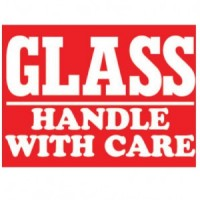 """GLASS HANDLE WITH CARE"" Label"