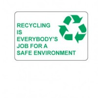 """""""Recycling is Everybody's Job"""" Label"""