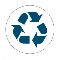 """""""Blue Recycle"""" Label"""