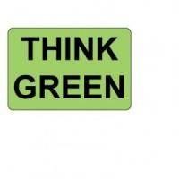"""THINK GREEN"" Label"