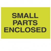 """SMALL PARTS ENCLOSED"" Label"