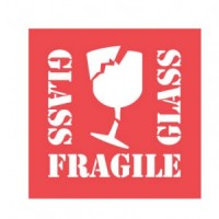 """Glass Fragile Glass"" Label"