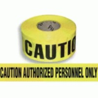 Caution Authorized Personnel Only Barricade Tape
