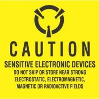 """""""CAUTION SENSITIVE ELECTRONIC DEVICES"""" Label"""