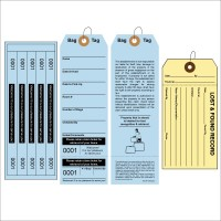 Superior Bag Identification Tags with 5 labels