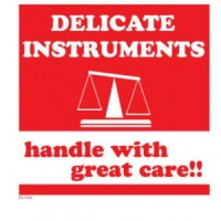 Delicate Instruments Handle With Great Care Label