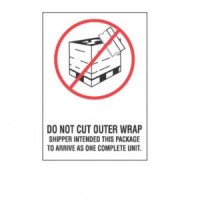 """""""Do Not Cut Outer Wrap"""" Label"""