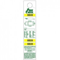 """Parking & Claim Check Tags, White, 2 1/2"""" x 12"""""""