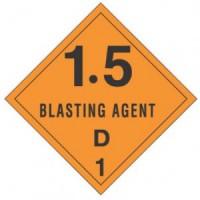 """1.5  Blasting Agent D"" - D.O.T. Label"
