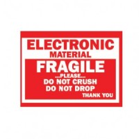 """Electronic Material Fragile"" Label"