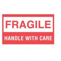 """FRAGILE HANDLE WITH CARE"" Label"