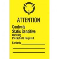 """ATTENTION Contents Static Sensitive"" Label"