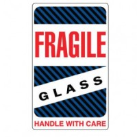 """FRAGILE GLASS HANDLE WITH CARE"" Label"