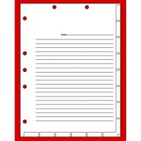 Admission Chart Divider Sheets