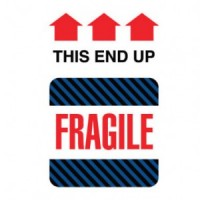 """FRAGILE This End Up"" Label"