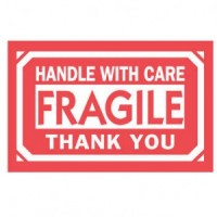"""HANDLE WITH CARE FRAGILE THANK YOU"" Label"