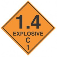 """EXPLOSIVE 1.4 C"" - D.O.T. Label"