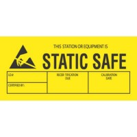 """""""THIS STATION OR EQUIPMENT IS STATIC SAFE"""" Label"""